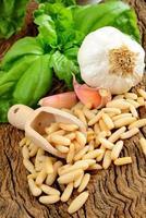 ingrediënten voor pesto genovese foto