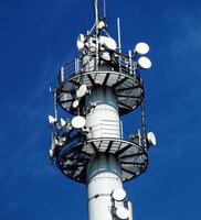 scène van telecommunicatietoren foto