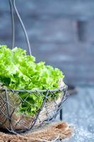 verse groene salade foto