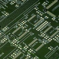 macro van een circuit bord
