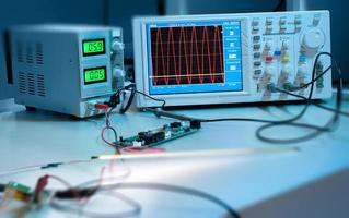 digitale oscilloscoop foto