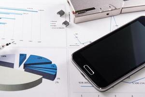 diagram met mobiel foto