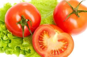tomaat groente en sla salade foto