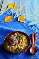 soep met parelgort en vlees foto