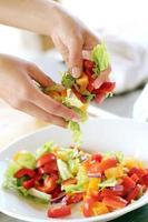 groenten worden gemengd foto