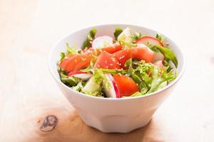 salade met sesamzaadjes