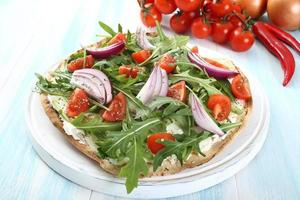 pizza groenten foto