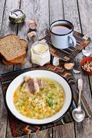 soep met parelgort en vlees