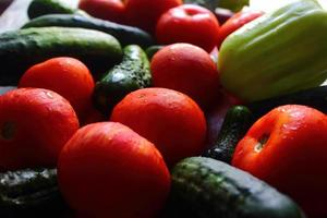 gestapelde groenten foto