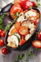 kip gebakken met groenten foto