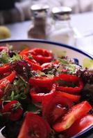 salade close-up foto