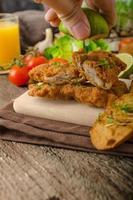 mini schnitzels - schnitzels foto