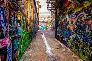 Graffitisteeg, in Baltimore, Maryland. foto