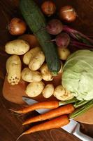 stilleven van groenteoogst foto