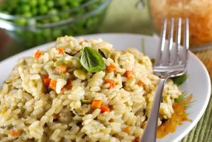 risotto met diverse groenten