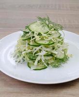 Ðabbage salade met komkommer