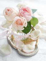 crème rozen foto