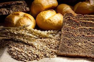 tarwe, maïs en brood foto