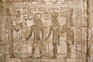 oude Egyptische fresco foto