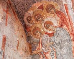 oude Byzantijnse fresco foto