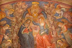 Rome - de kroning van het maagd Maria-fresco foto
