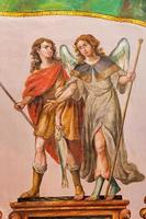 Sevilla - het barokke fresco van de aartsengel Raphael foto