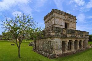 tulum tempel van de schilderijen of fresco's foto