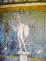 fresco mars in huis van venus, pompeii foto