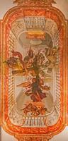 Sevilla - fresco van engelen met het kruis. foto