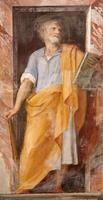 rome - fresco van apostel heilige jude thaddeus foto