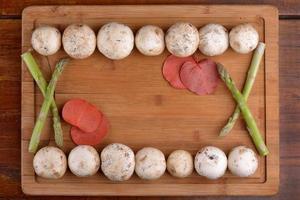 parijse champignons en asperges foto