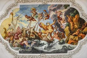 fresco op het plafond