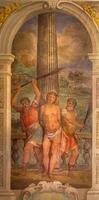bologna - geseling van fresco van jezus foto