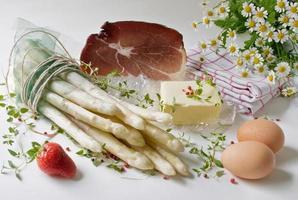 """posters """"witte asperges met ham"""" foto"""
