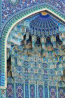 gur-e amir's fresco in samarkand foto