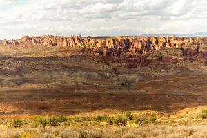 landschap van bogen nationaal park, Verenigde Staten foto