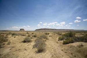 Mesa in de woestijn van New Mexico foto