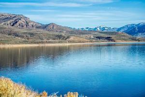 blauw mesareservoir in gunnison nationaal bos Colorado foto