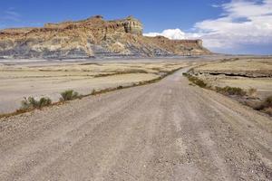 woestijn onverharde weg foto