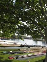 bemanning regatta boten opgesteld voor race foto