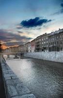 de rivier van Sarajevo foto