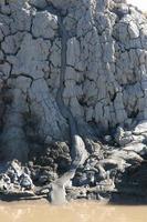 rivier van modder foto