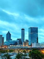 het centrum van Atlanta 's nachts