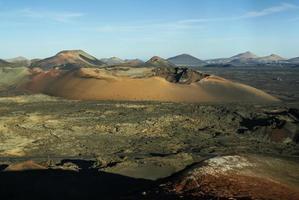 bergen van vuur, montanas del fuego, timanfaya nationaal park i foto