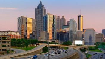 Atlanta Georgia in de schemering