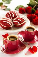 """koekjes whoopi """"rood fluweel"""" op Valentijnsdag. foto"""