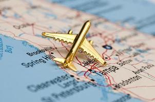 gouden vliegtuig over Florida