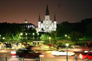 st. kathedraal van louis 's nachts foto