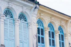 oude gebouwen in Chinees-Portugese stijl foto