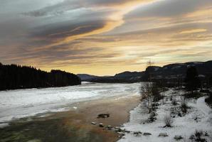 Nowegian rivier foto